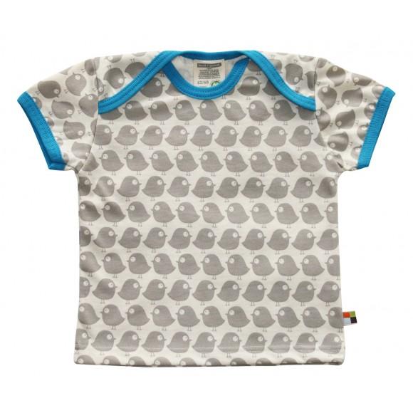 Loud+Proud Κοντομάνικο Μπλουζάκι από Οργανικό Βαμβάκι Γκρί 6-12 μηνών