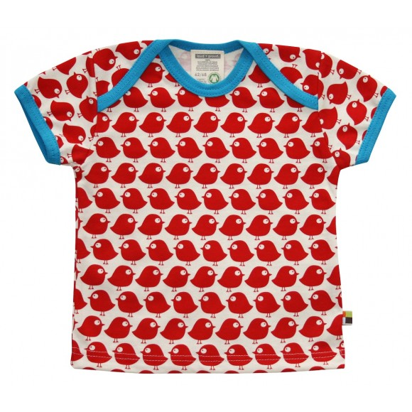 Loud+Proud Κοντομάνικο Μπλουζάκι από Οργανικό Βαμβάκι Κόκκινο 18-24 μηνών