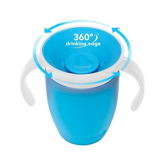 Munchkin Εκπαιδευτικό Κύπελλο Miracle 360° 207ml Μπλε