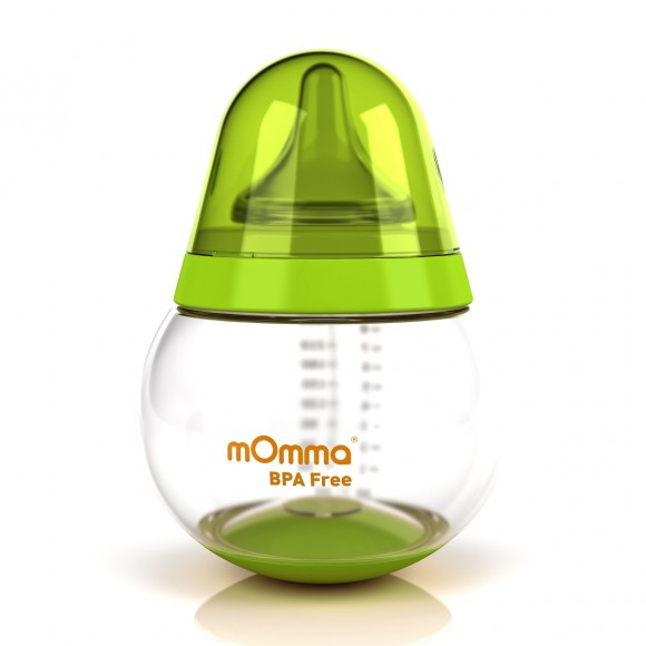 mOmma Μπιμπερό με Κινητή βάση 250ml Χωρίς BPA 6+ μηνών Πράσινο