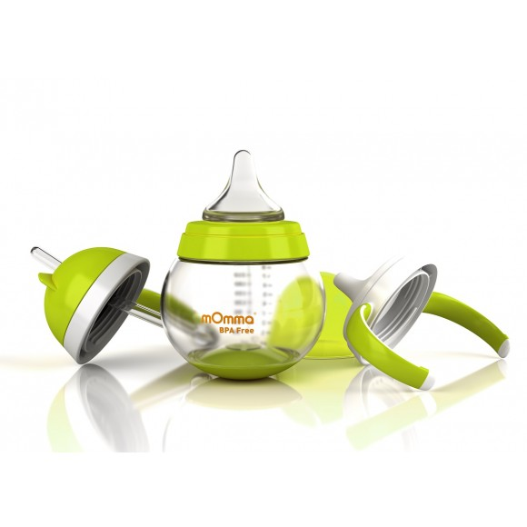 mOmma Σετ Ανάπτυξης για Υγρές Τροφές Χωρίς BPA 250ml 6+ μηνών Πράσινο