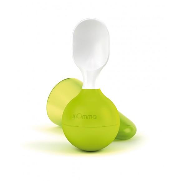 mOmma Μαλακό Κινούμενο Κουτάλι Χωρίς BPA 6+ μηνών Πράσινο