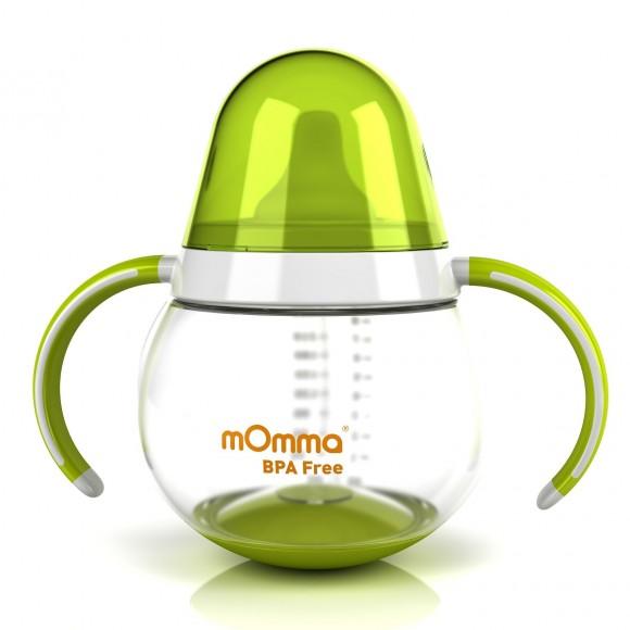 mOmma Κύπελλο Κατά των Διαρροών με Διπλή Λαβή Χωρίς BPA 250ml 9+ μηνών Πράσινο