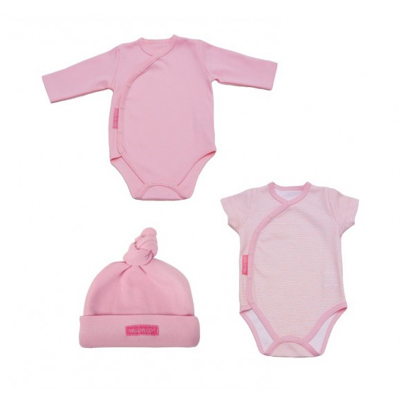 Mumco Σετ 2 Φορμάκια & Σκουφάκι Ροζ 0-3 μηνών