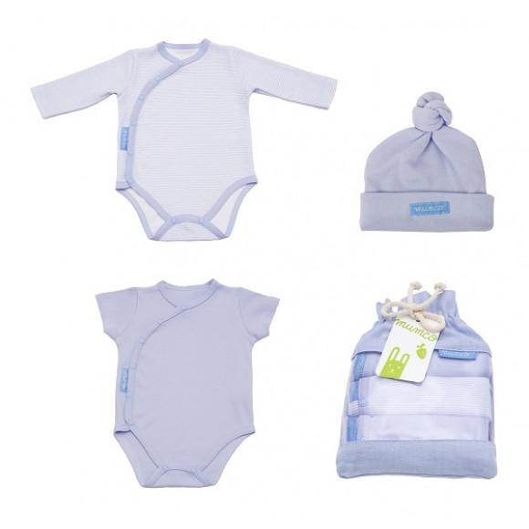 Mumco Σετ 2 Φορμάκια & Σκουφάκι Μπλε 0-3 μηνών