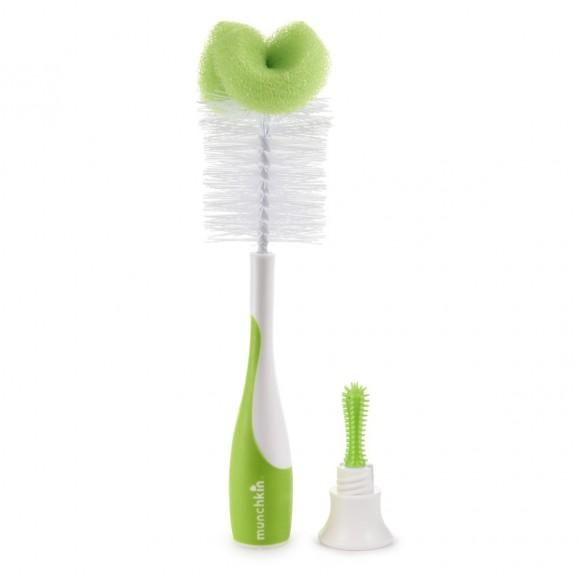 Munchkin Βούρτσα Καθαρισμού για Μπιμπερό και Πιπίλες Πράσινη