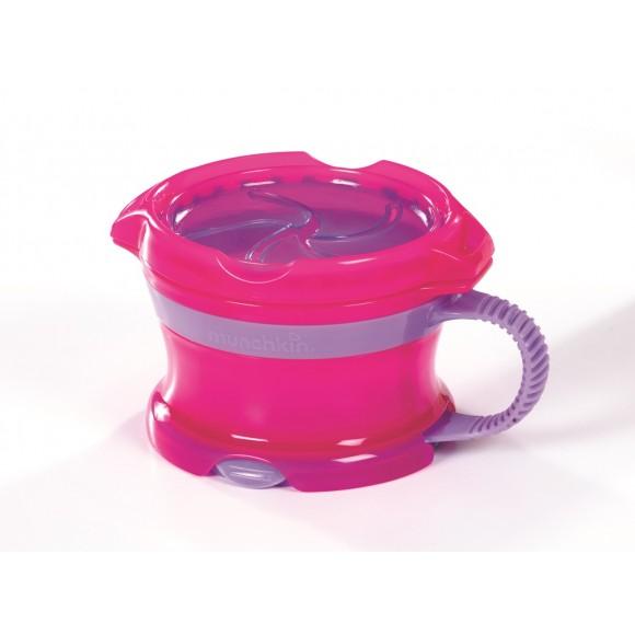 Munchkin Δοχείο Click Lock για Σνακ Ροζ