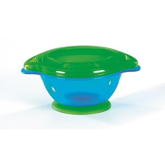 Munchkin Μπoλ Φαγητού Click Lock Με Βεντούζα Μπλε Πράσινο
