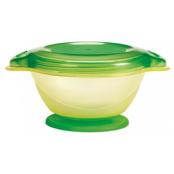 Munchkin Μπoλ Φαγητού Click Lock Με Βεντούζα Πράσινο Κίτρινο