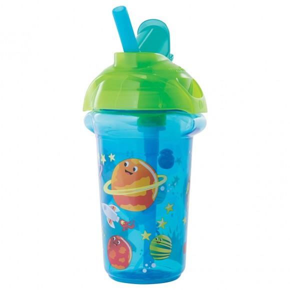 Munchkin Κύπελλο με Καλαμάκι Click Lock 266ml Μπλε
