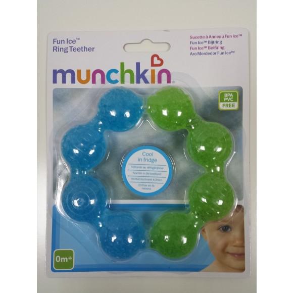 Munchkin Μασητικό με Τζελ για τα Πρώτα Δόντια Πράσινο Μπλε