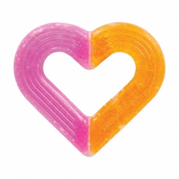 Munchkin Μασητικό Καρδιά με Τζελ Ice Glace Ροζ