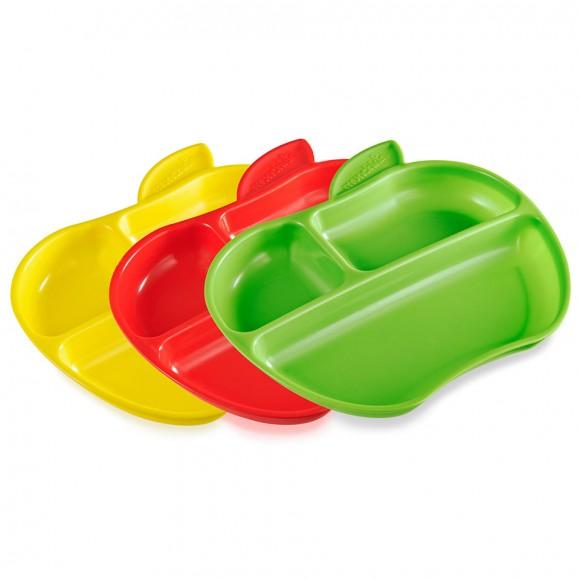 Munchkin Πιατάκια με Χωρίσματα 3τμχ Μήλο