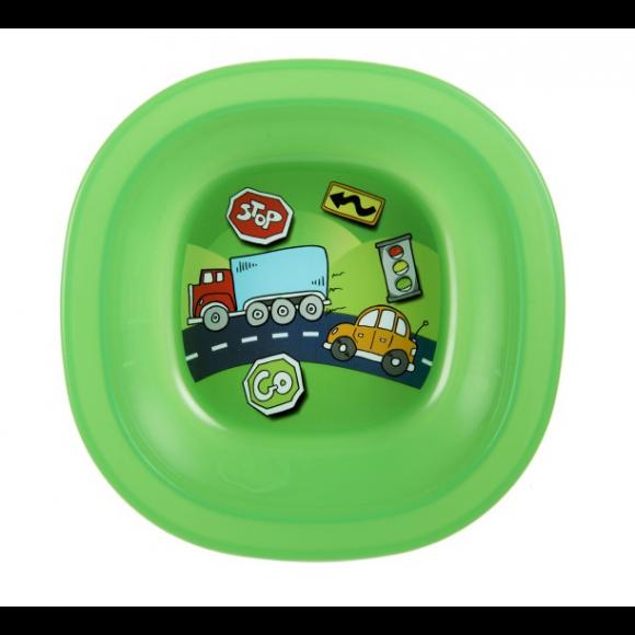 Munchkin Μπολ Φαγητού με Αυτοκινητάκια Πράσινο