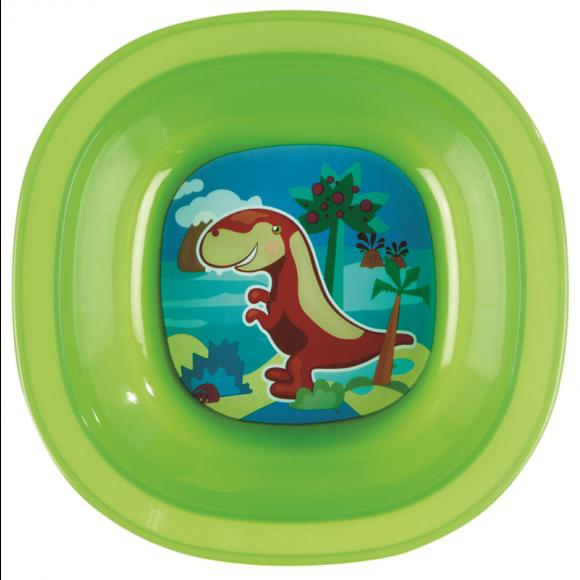 Munchkin Μπολ Φαγητού με Δεινόσαυρο Πράσινο