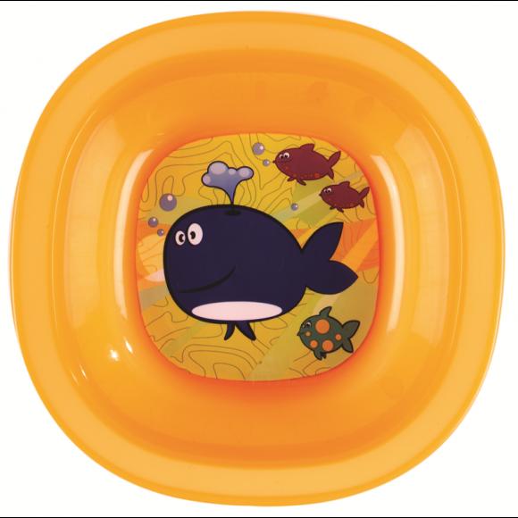 Munchkin Μπολ Φαγητού με Φάλαινα Πορτοκαλί