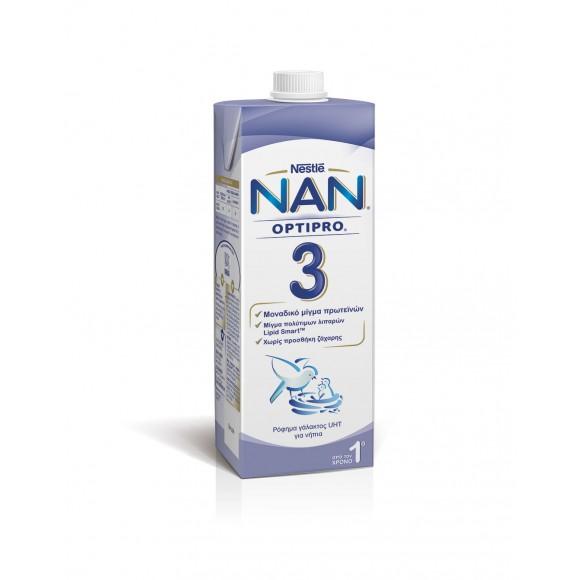 Nestle NAN OPTIPRO 3 RTD Ρόφημα Γάλακτος UHT για νήπια 1L