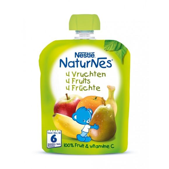 Nestle Naturnes Φρουτοπουρές 4 Φρούτα 90gr
