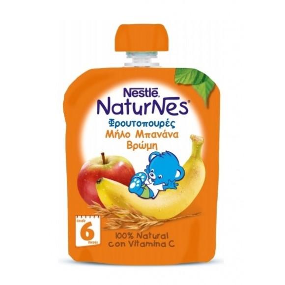 Nestle Naturnes Φρουτοπουρές Μπανάνα Μήλο Βρώμη 90g