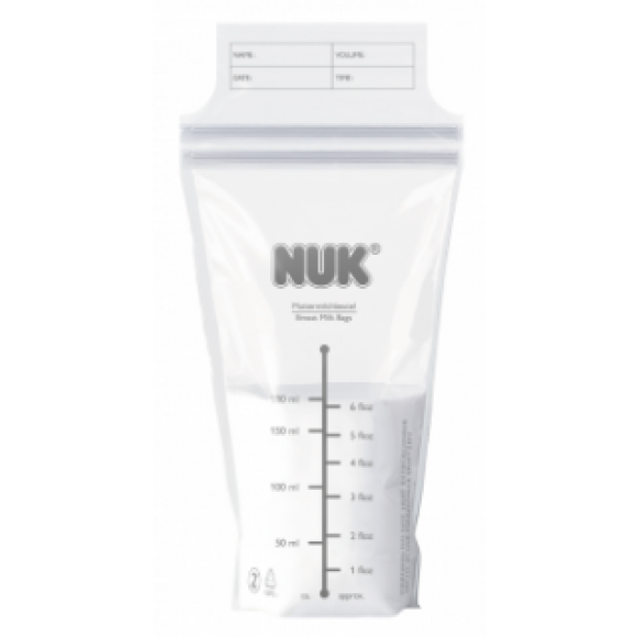 NUK Σακουλάκια Αποθήκευσης Μητρικού Γάλακτος 25τμχ