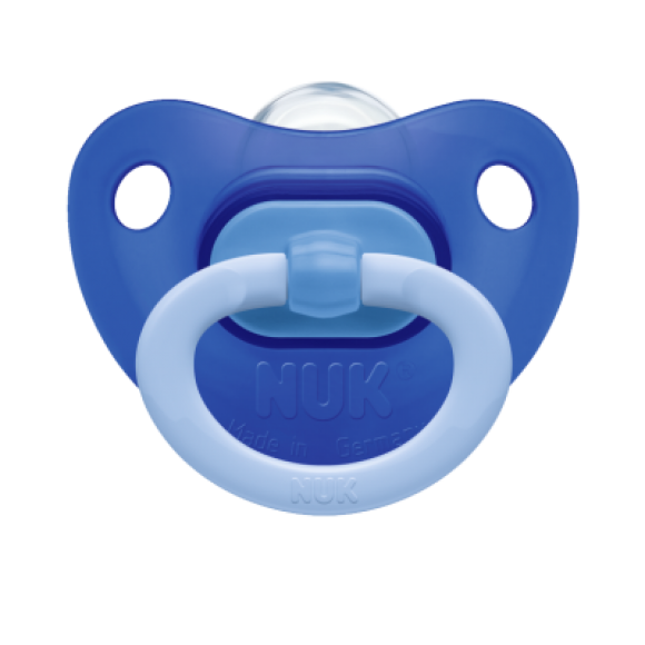 NUK Πιπίλα Fashion Σιλικόνης 0-6m Μπλε