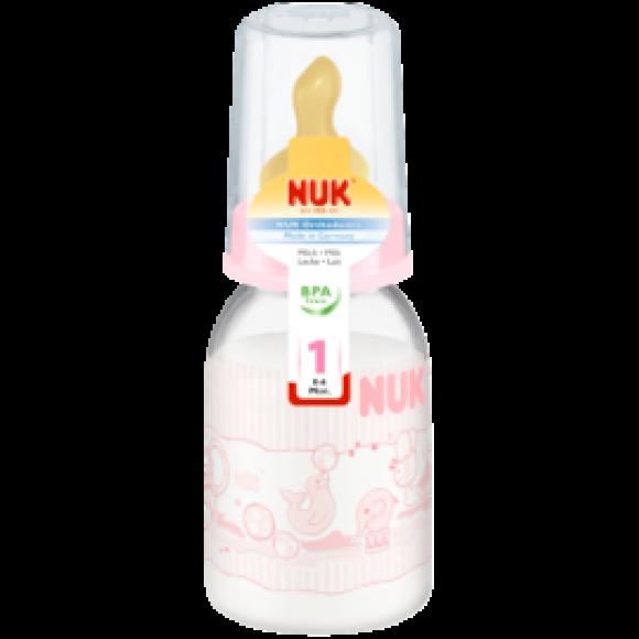 NUK Μπιμπερό Classic Rose με Θηλή Καουτσούκ 110ml