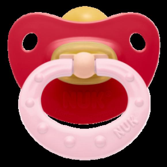 NUK Πιπίλα Classic Soft Καουτσούκ 0-6m Κόκκινη