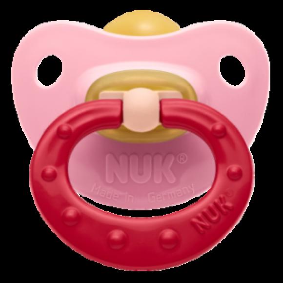 NUK Πιπίλα Classic Soft Καουτσούκ 0-6m Ροζ