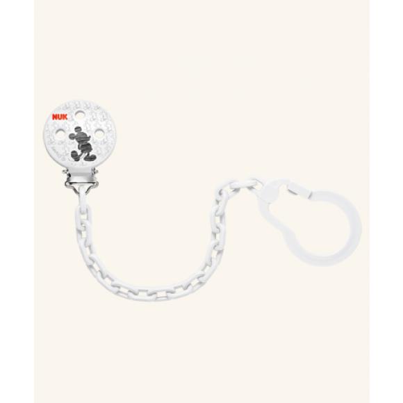 NUK Αλυσίδα πιπίλας Disney Mickey Λευκή
