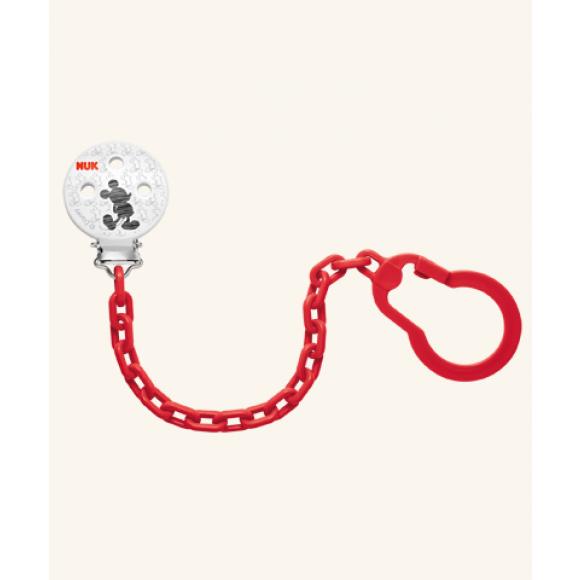 NUK Αλυσίδα πιπίλας Disney Mickey Κόκκινη