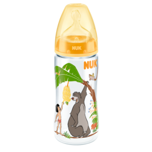 NUK Μπιμπερό First Choice Disney Junglebook 300ml Κίτρινο
