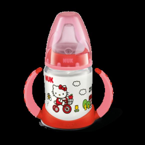 NUK Μπιμπερό Εκπαίδευσης First Choice Hello Kitty 150ml Κόκκινο