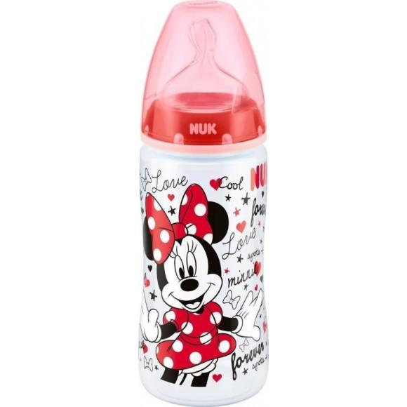 NUK Μπιμπερό First Choice Plus Mickey με Θηλή Σιλικόνης 300ml Κόκκινο