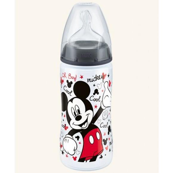 NUK Μπιμπερό First Choice Plus Mickey με Θηλή Σιλικόνης 300ml Μαύρο