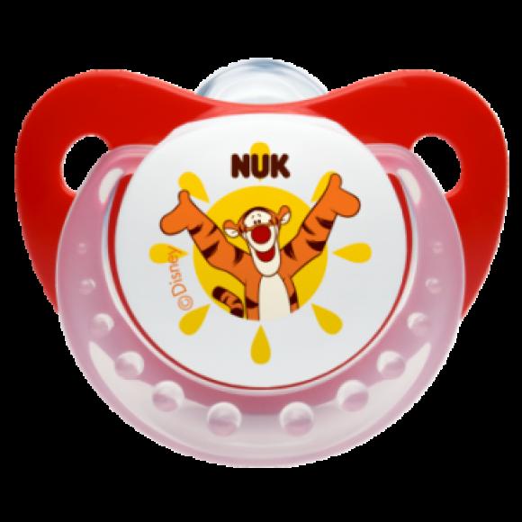 NUK Πιπίλα Disney Σιλικόνης 0-6m Κόκκινη