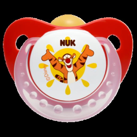 NUK Πιπίλα Disney Καουτσούκ 18-36m Κόκκινη
