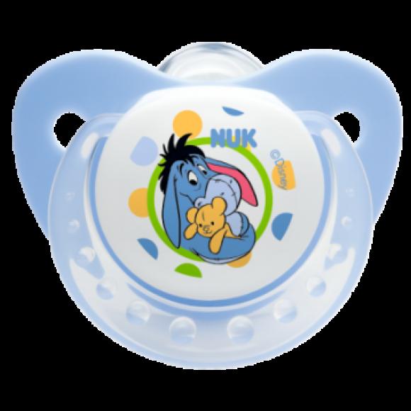 NUK Πιπίλα Disney Σιλικόνης 0-6m Γαλάζια