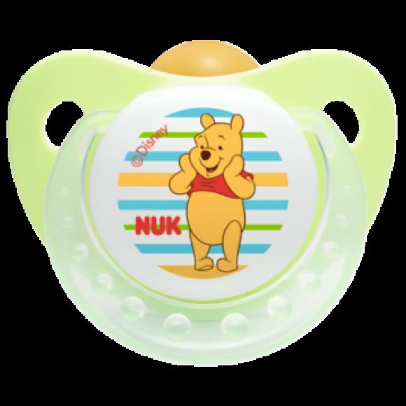 NUK Πιπίλα Disney Καουτσούκ 18-36m Πράσινη