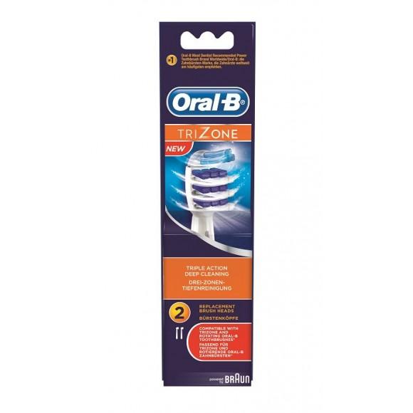 Oral B Ανταλλακτικά Ηλ. Επαναφορτιζόμενων Οδοντόβουρτσων Trizone 2τμχ