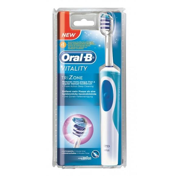 Oral B Ηλεκτροκίνητη Επαναφορτιζόμενη Οδοντόβουρτσα Vitality Trizone