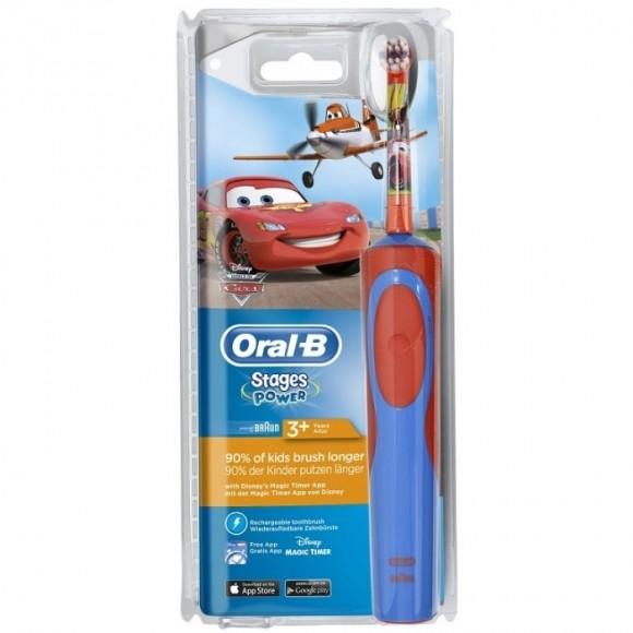 Oral B Παιδική Ηλεκτρική Επαν/ζόμενη Οδοντόβουρτσα Vitality Stages Power Cars 3+ Ετών