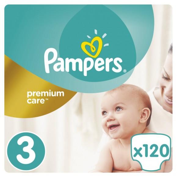 Πάνες Pampers Premium Care Νο 3 Mega Box 120τμχ (5-9kg)