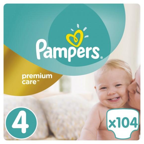 Πάνες Pampers Premium Care Νο 4 Mega Box 104τμχ (8-14kg)