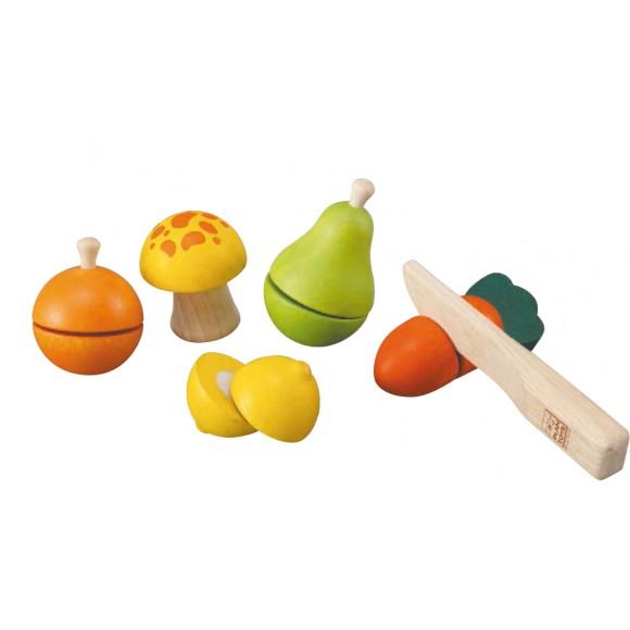 Plan Toys Ξύλινα Φρούτα & Λαχανικά 5337