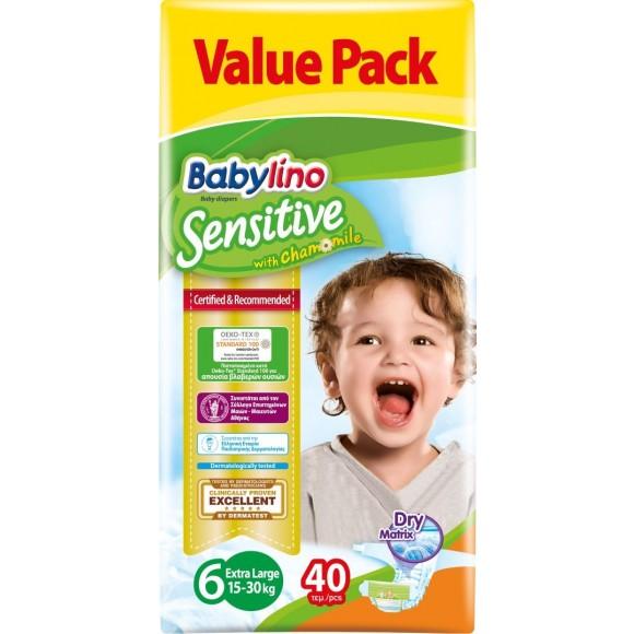 Πάνες Babylino Sensitive No6 (15-30Kg) Value Pack 40τμχ