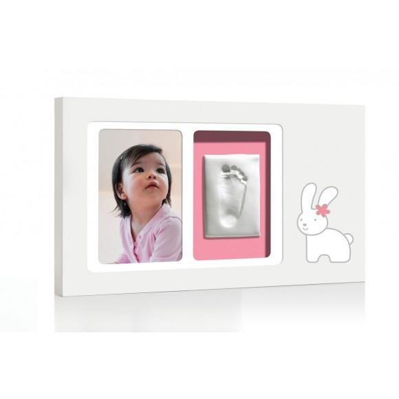 Pearhead Babyprints Κορνίζα αποτύπωμα Bunny Pink