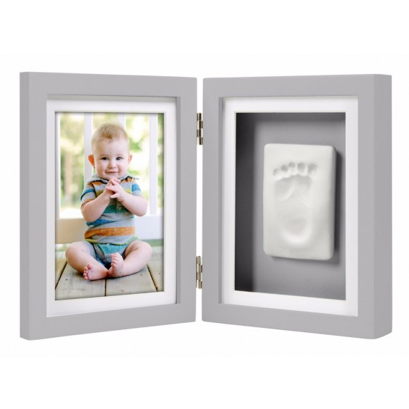 Pearhead Κορνίζα Αποτύπωμα Γκρι Babyprints Desk Frame