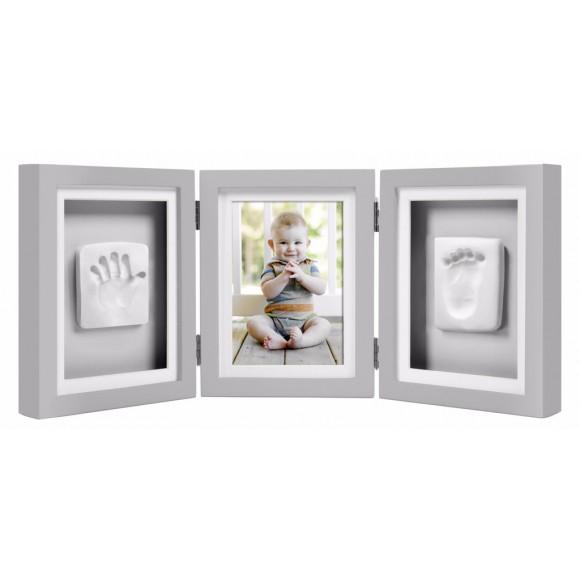 Pearhead Κορνίζα Αποτύπωμα Γκρι Τριπλή Babyprints Deluxe Frame