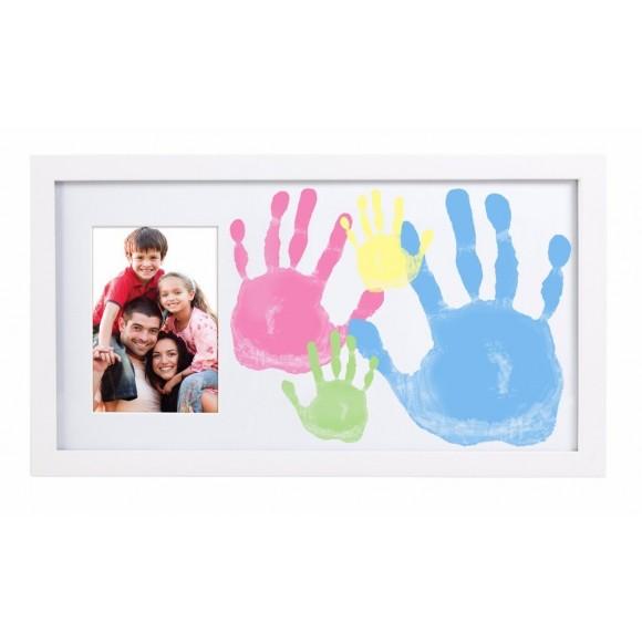 Pearhead Κορνίζα για Αποτυπώματα Λευκή Family Handprint Frame