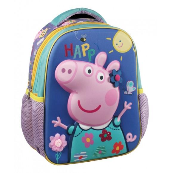05139c41c4 Peppa Pig Τσάντα Πλάτης Νηπίου με 3D σχέδιο 27x31x10cm ...